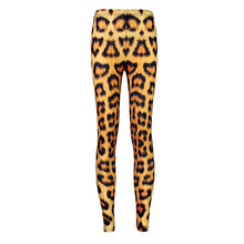 European and American version of leggings stretch pants feel smooth yellow leopard pants leggings section