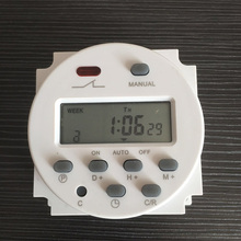 CN101A LCD Display Programmable Digital Timer Switch 220V/110V/12V/24V Micro-computer Electronic Time Switch Controller
