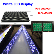 Asynchronous white led display controller outdoor 41*1097cm p10 led signboard(China)