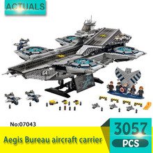Lepin 07043 3057Pcs Super heroes Series  SHIELD aircraft carrier Model Building Blocks Set  Bricks Toys For Children  Gift