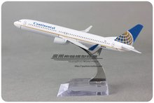 Brand New 1/250 Scale Airplane Model Toys Continental Airlines Boeing B737-800 (16cm) Diecast Metal Plane Model Toy For Gift