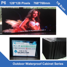 TEEHO sign display led video TV outdoor led cabinet P6 fixed use iron waterproof Cabinet 768mm*768mm 1/8 scan led module cabinet(China)
