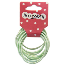JEYL 2X New 50pcs Baby Girl Kids Tiny Hair Accessary Hair Bands Elastic Ties Light green(China)