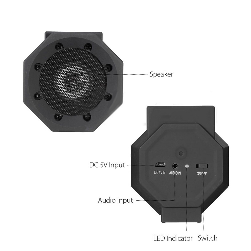 Mayitr Touch Speakers Induction Boombox Ultra Light Mini Wireless Portable Hifi Subwoofer Connection Speaker For Mobile Phone