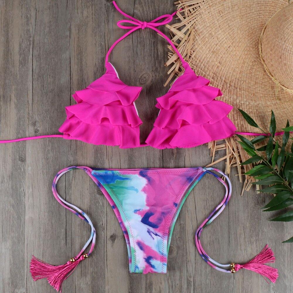 NEW Brazilian Bikini Set Sexy Push Up Swimwear Women's Swimsuit Bathing Suits Swimming Suit For Women Maillot De Bain E045 10