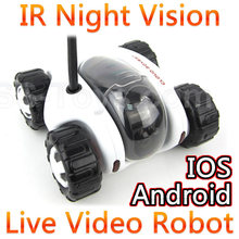 Wifi Control Spy RC Tank Car Controlled By IPhone Android Mobile Phone Live Video Camera Infrared Ray Night Vision Li-ion FSWB