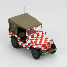 "Fine HM 1604 1/48 Wilys MB US Army Air Force Iowa ""Follow Me"" Alloy off - road vehicle model Collection model"