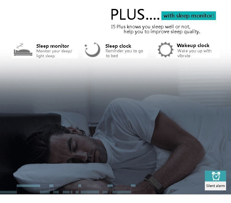 Original iwown I5 Plus Smart Bracelet Bluetooth Activity Wristband Fitness Sleep Tracker Reminder Passmeter Sports Watch 9