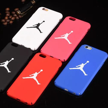 Fashion Sport Hard Plastic Matte Back Cover For iPhone 8 7 Plus Jordan Full Protect Phone Case For iPhone 6 6S Plus 5 5s SE bag