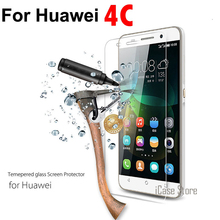 0.3mm Film Tempered Glass For Huawei Honor 4C CHM-U01 G Play Mini CHM-TL00H Dual Screen Protector on phone(China)