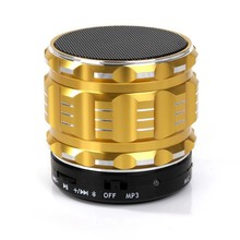 S28 Metal Mini Portable Bluetooth Speaker Mic TF Card Slot Stereo Speakers for mobile phone Laptop MP3 MP4 Player(China)