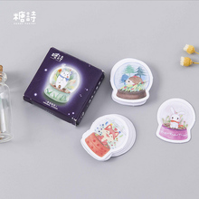 45 pcs/lot Mini Small world landscape paper sticker decoration DIY ablum diary scrapbooking label sticker kawaii stationery(China)