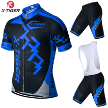 X-Tiger Brand Pro Bicycle Wear Maillot Ropa Ciclismo Short Sleeve Breathable Cycling Jersey set With Bike Cycling Bib Shorts
