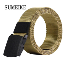 2016 Male Belt High Quality Designer Brand Automatic Buckle Belt For Men Casual Style Tactical Belt For Jeans 110cm Wholesale(China)