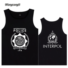 WANGCANGLI 2017 Interpol Logo vests Tank Tops Black Cotton Mens Casual Many styles Clothing Print Ieterpol Tank Tops plus size