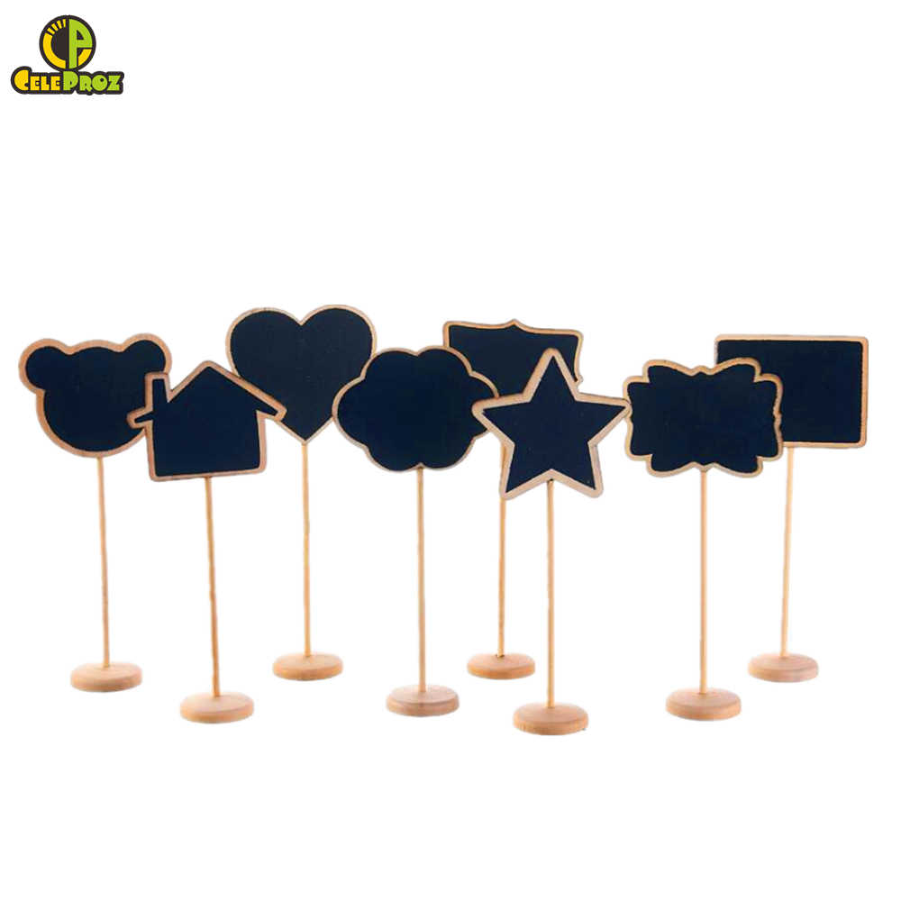 Wooden Blackboard Table Number Chalkboard Table Note Place Card Holder Wedding Table Number Stand Wedding Party Event Decoration