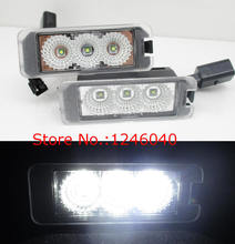 2017 NEW 3LED number License plate light for Seat Altea 2007~ Exeo ST 2009~ Ibiza  2009~ Leon/Leon4 2006 ~ Skoda superb 4d 08~