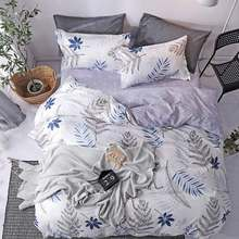 Fascinating flowers bedding sets duvet cover + flat sheet + pillowcase Twin/full/queen/king Size without quilt(China)