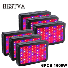6pcs/lot 1000W led grow light Full Spectrum for Indoor Hydroponics Plant flower growth 100pcs 10W double chips(China)
