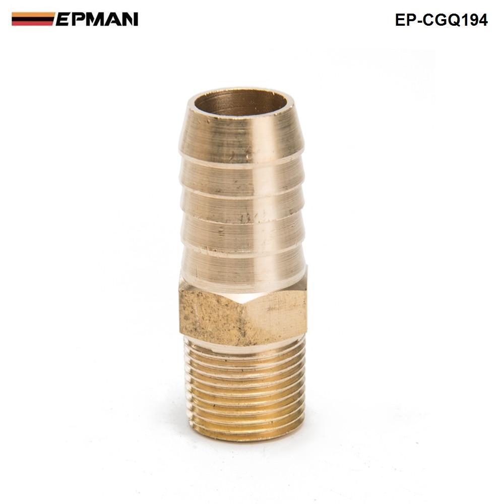 "EPMAN -  Brass Barb Fitting Coupler 5/8"" Hose ID x 3/8"" Male NPT Fuel Gas Water  EP-CGQ194"