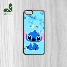 1pcs Popular Lilo & Stitch Background Pattern Durable Phone Accessories Protection Case For iphone 4S 5C 5S 6 6 Plus 6S 6S Plus(China)
