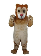 Friendly Lion Mascot Costume Adult Size Wild Animal Male Lion King Carnival Party Cosply Mascotte Suit Kit EMS FREE SHIP SW1027