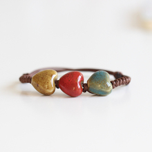 Fashion Return To The Ancients Handmade Ceramic Beads Charm Gift Women's Bracelet Fashion Jewelry Free Shipping 00935