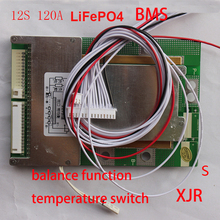 12S 120A LiFePO4 BMS/PCM/PCB battery protection circuit board for 12 Packs 18650 Battery Cell  for E-bike w/balance w/Temp