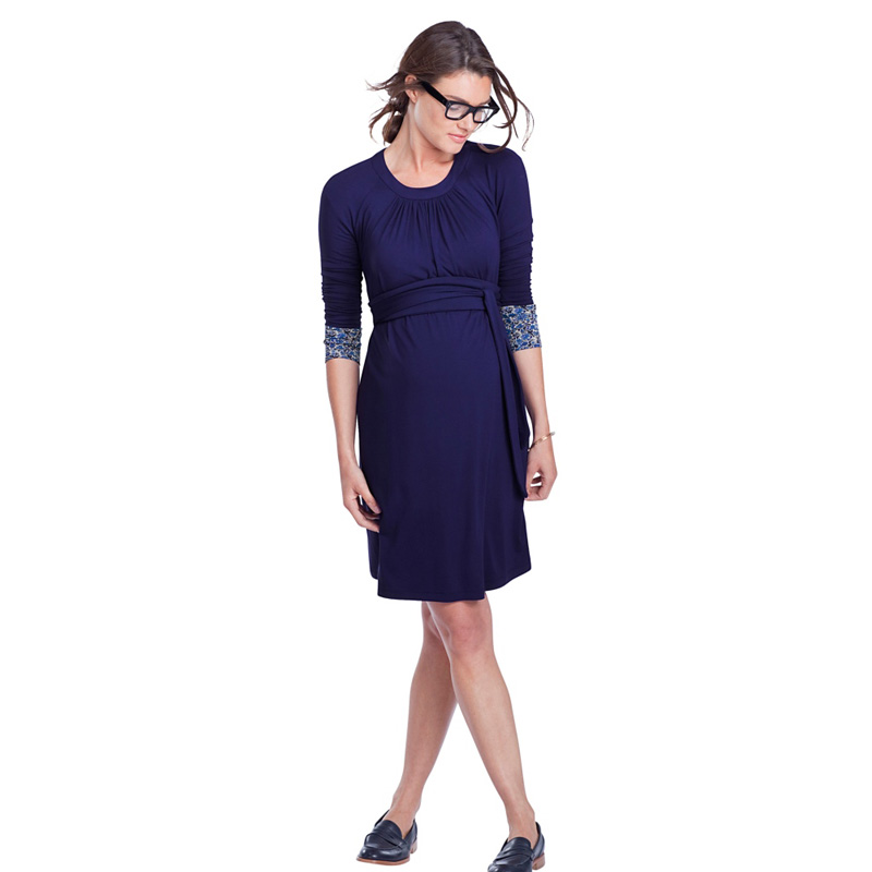 Brand Spring Summer Three Quarter Formal Maternity Dresses Pregnancy Clothes Knee Length Womens Office Vestidos Studio Clothing<br>