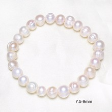 Buy New Fashion Natural Real Freshwater Pearl Beads Strand Pearl Bracelet Pure White Stretch Bridal Bangle Wedding Jewelry Bracelets for $2.35 in AliExpress store