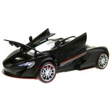 Collectible Car Models 1:32 Black McLaren P1 Alloy Diecast Car Model Toy Vehicles Electronic Car With Light&Sound Gift for Kids