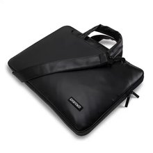 hot sales POKOFO brand Canvas 13 13.3 inch Laptop Shoulder Bag Case For Macbook Pro Air Asus/Notebook Handbag black white