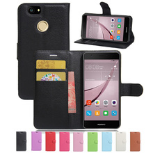 Wallet Case For HUAWEI NOVA / Nova Plus PU Leather Kickstand Back Shell Pink Rose Green Purple Blue Black White Brown(China)
