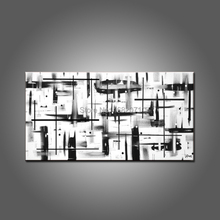 High Skills Artist Hand-painted Abstract White and Black Oil Painting For Living Room Decoration Abstract Modern Black Painting