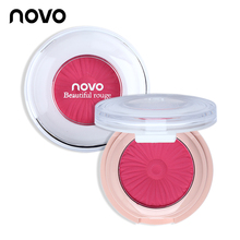 NOVO Blusher Palette Pressed Powder Cheek Make Up 8 Color Options Blush Colorete Rouge Facial Charming Korean Cosmetics Set 1PC(China)