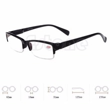 New Black Half - frame Resin Myopia Glasses Semi-rimless Eyeglass Myopia Glasses -1 -1.5 -2 -2.5 -3 -3.5 -4