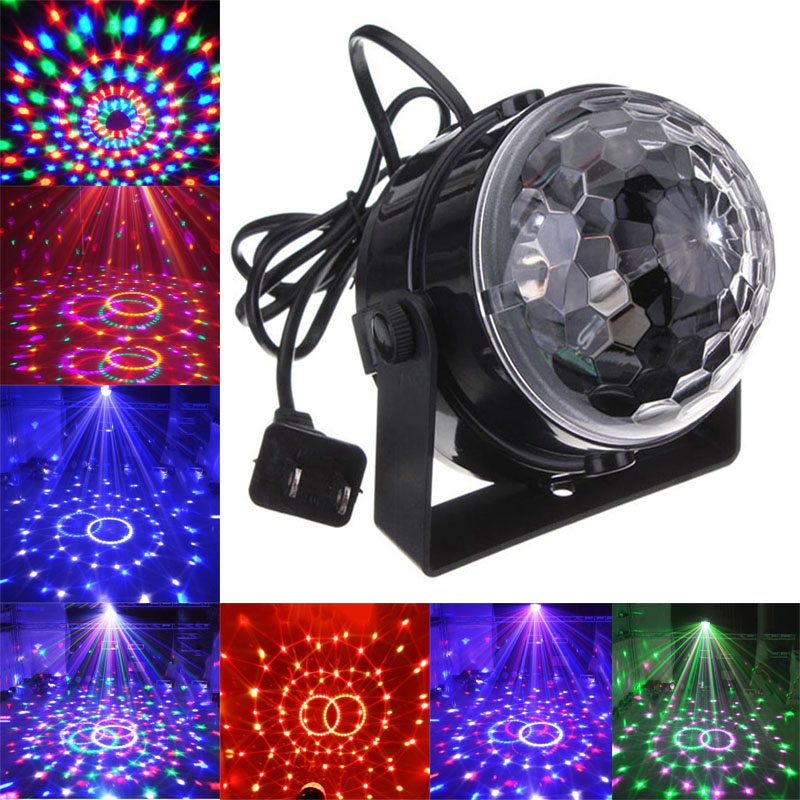 Voice Control RGB LED Stage Lamps Crystal Magic Ball Sound Control Laser Projector Stage Effect Light Party Disco Club DJ Light<br><br>Aliexpress