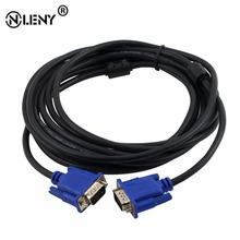 5M/15ft SVGA VGA HD15 Male To HD15 15-pin Male Extension Monitor Connector Cable For PC Laptop Projector LCD Monitor