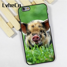 LvheCn phone case cover fit for iPhone 4 4s 5 5s 5c SE 6 6s 7 8 plus X ipod touch 4 5 6 Piglet Pig Minature Cute(China)
