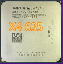 AMD II Athlon x4 635 X4 635 quad-core scattered pieces cpu am3 2.9G 2M cpu quad-core processor(China)