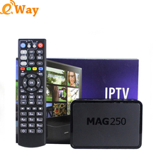 10pcs /lot New Mag250 Linux tv box Media Player Support WiFi Linux System Processor STi7105 RAM 256 Mb Top Quality set top box(China)