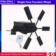 Single face wheel fountain fireworks fire system cold fountains fireworks firing machine remote control cold flame wheel