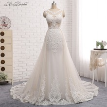 Buy Modest Ball Gown Wedding Gown Dresses robe de mariage 2017 Boat Neck Appliques Gelinlik Vestido de noiva 2017 Bridal Gowns for $339.00 in AliExpress store