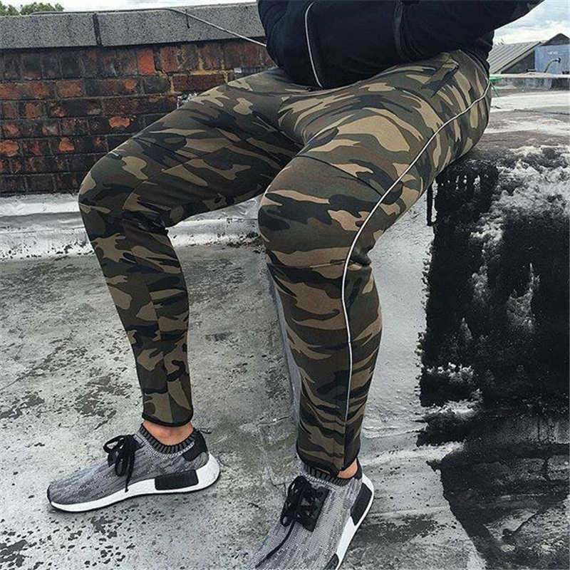 GYMOHYEAH NEW pants Men's High quality workout bodybuilding clothing casual camouflage sweatpants joggers pants skinny trousers 7