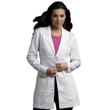 New Arrival lab coat medical clothing white cotton womens belted consultation lab wear uniformes medico dental uniform
