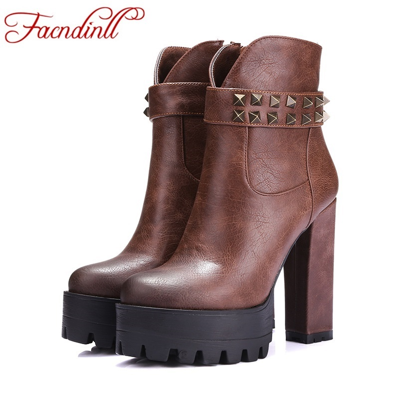 womens ankle boots 2016 new fashion autumn winter ankle boots high heels boats femininas black sexy women boots platform boots<br><br>Aliexpress