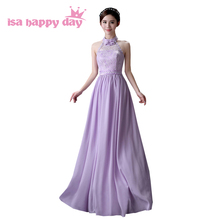 classy elegant halter prom teen sexy lace up back lavender dress formal special occasion long dresses applique party 2017 H4122