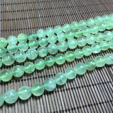 6-10MM 1Strand/pack 100% Natural Fluorite Stone Round Loose Bead Strands Fine Jewelry Beads(China)