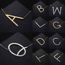 Choker A B C D E F G H I J K L M N O P Q R S T U V W X Y Z Pendant Choker Necklaces English Letter Necklaces Women Girls Gifts