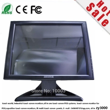 Free Shipping DHL  Door to Door DC 12 V  input 4 wire resistive USB control 15 inch VGA DVI input LED touch screen  Monitor